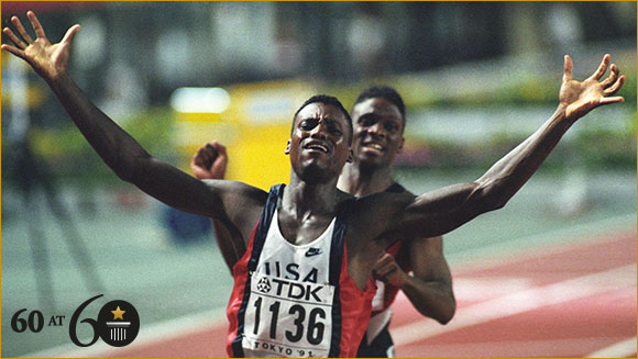 1991: Most Wins of the 100 m at the Olympics