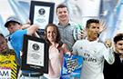 Cristiano Ronaldo, Rory McIlroy and Roger Federer among sports stars to make the cut in Guinness World Records 2015 book