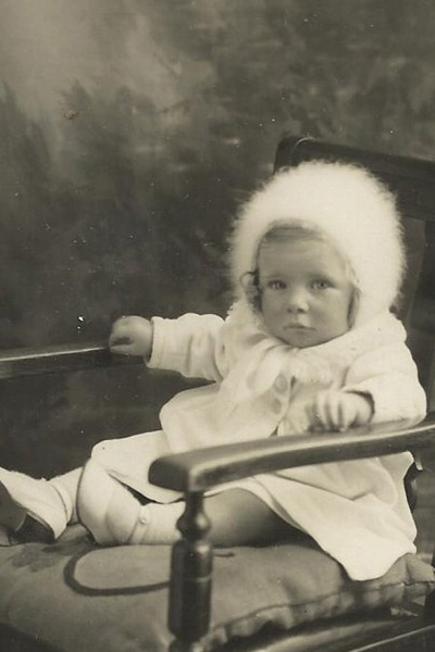 Ann Hunt at the age of 1