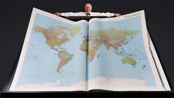World's largest atlas is unveiled at the British Library