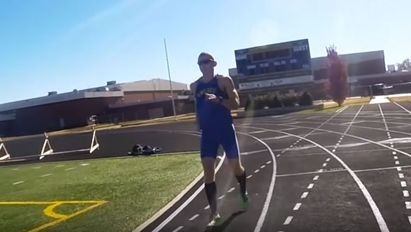 Backwards Day: Video - Watch US college coach complete fastest mile running backwards