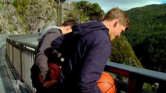 How Ridiculous: Australian team attempt 140-metre basketball shot