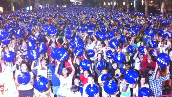 Spanish city of Valladolid the scene for huge beach ball world record attempt