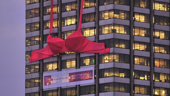 World's biggest bra unveiled for breast cancer awareness campaign