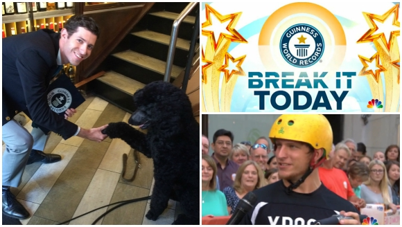 Pogo flips and poodle tricks as NBC's Today show celebrates the release of Guinness World Records 2016