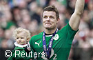 Irish rugby star Brian O'Driscoll sets most capped player world record