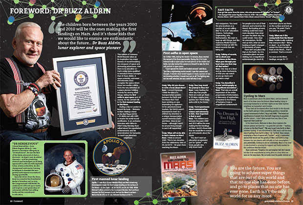 Buzz Aldrin foreword in GWR 2017