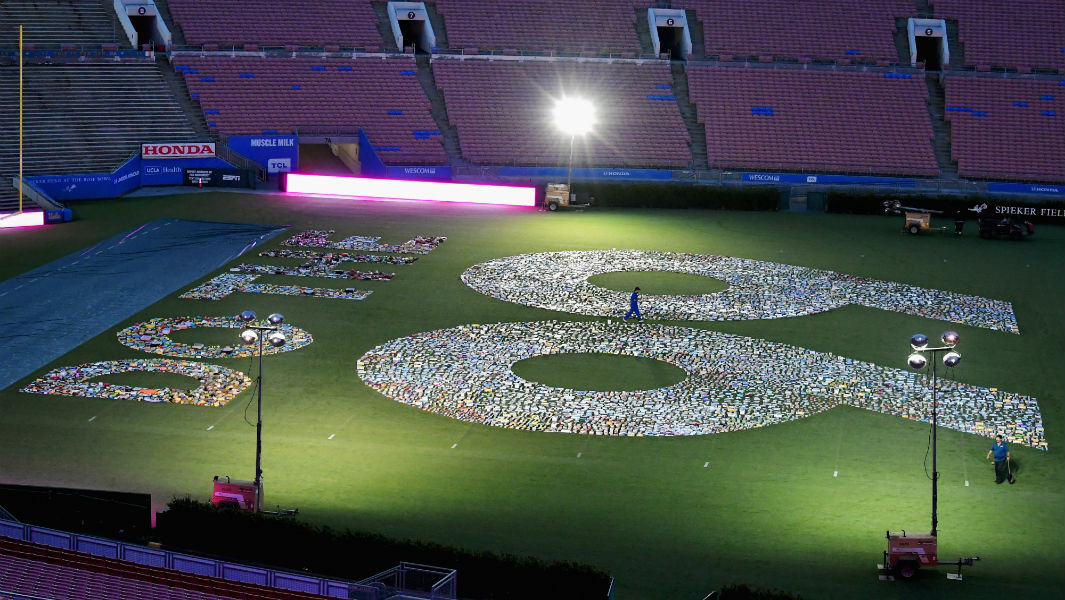 99 Cents Only Stores Uses 12000 Products To Create Huge Display In Sports Stadium