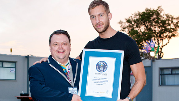 Calvin Harris trumps Michael Jackson feat to join Taylor Swift, Rihanna and One Direction in Guinness World Records™ 2014 book