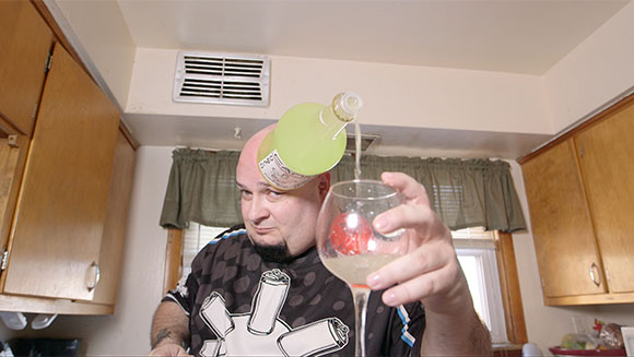 Can Head pouring drink
