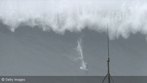 Has Brazil's Carlos Burle beaten the world record for largest wave surfed?