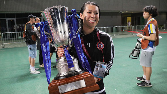 Chan Yuen-ting named first female football coach to win a top-flight men's championship