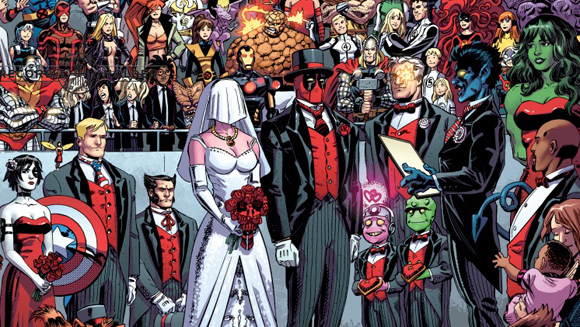 Marvel's Deadpool wedding issue makes comic book history