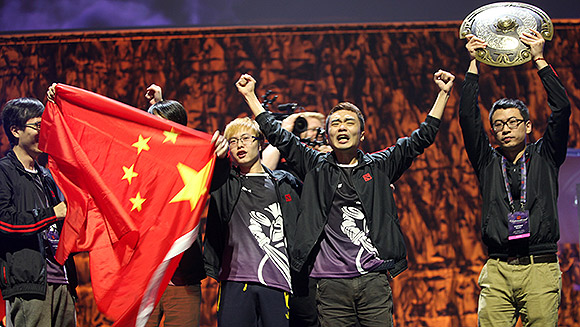 Chinese team Newbee sets videogame prize money record with $5million Dota 2 championship win