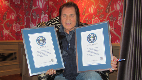 Engelbert Humperdinck honoured with Guinness World Record ahead of Eurovision Song Contest