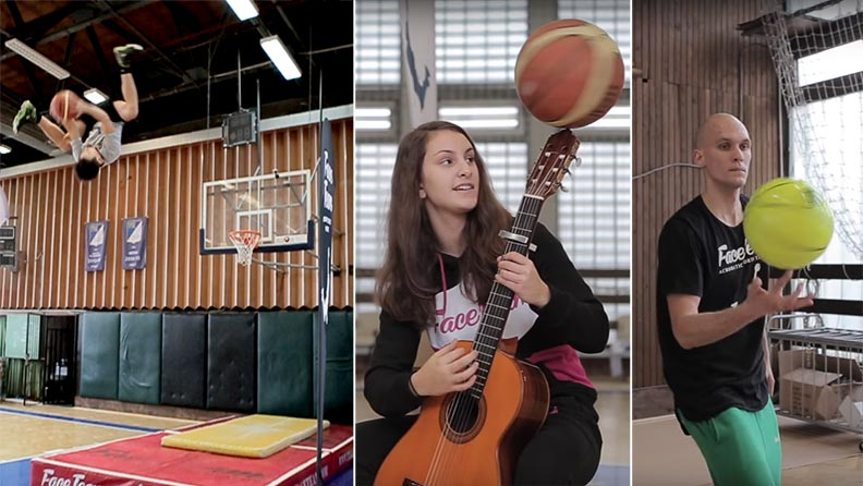 Awesome basketball trick shots 12 GIFs  theCHIVEcom