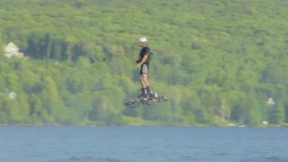 Video: Watch incredible footage of farthest flight by a hoverboard record set by Canada's Catalin Alexandru Duru