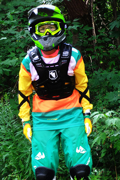 Fastest half marathon dressed in motocross gear female
