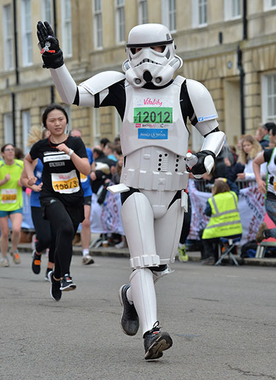 Fastest marathon dressed as a Star Wars character