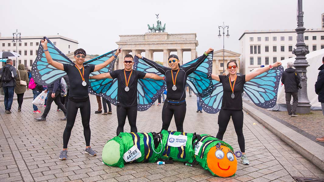 BMW Berlin Marathon: Six fun-runners enter the record books
