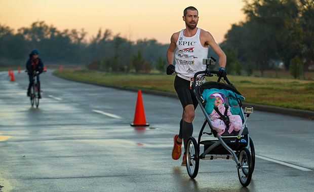 Fastest marathon pushing a pram