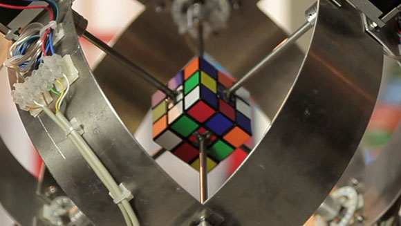 Video: Fastest robot to solve a Rubik's cube record falls again as German engineer takes title