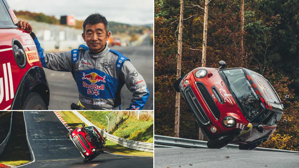 New Record For Chinese Stunt Driver Han Yue Fastest Side Wheelie Lap Of The Nürburgring Nordschleife