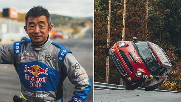 New record for Chinese stunt driver Han Yue: Fastest side-wheelie lap of the Nürburgring Nordschleife