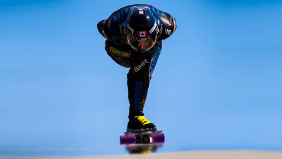 'Human F1 car' Mischo Erban smashes fastest skateboard speed world record - video