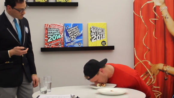 Video: Watch Furious Pete attempt food eating challenges at Guinness World Records New York HQ