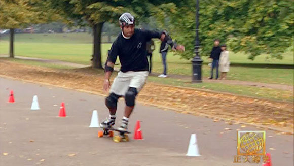 Classics: Fastest time to skateboard 50 cones slalom