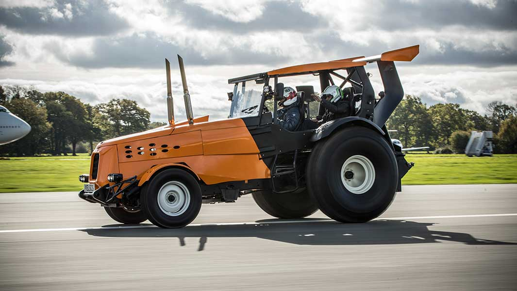 Top Gear Smashes Record For Worlds Fastest Tractor After Driving At - Show me the fastest car