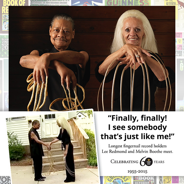 Longest fingernails meeting Guinness World Records 60th
