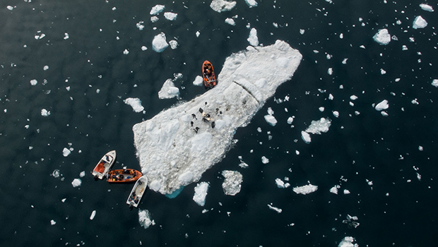 First-gig-on-a-floating-iceberg-guinness-world-records-top-view