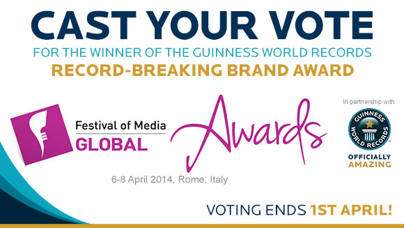 Guinness World Records and Festival of Media global announce shortlist of record holding brands for awards