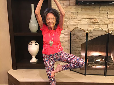 Former oldest yoga teacher