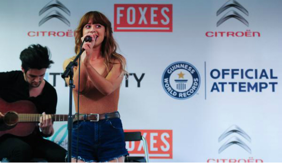 Foxes concert Guinness World Records attempt