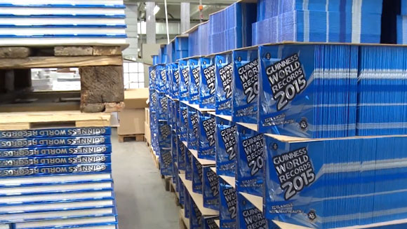 Behind the scenes: The new Guinness World Records 2015 book - hot off the press!