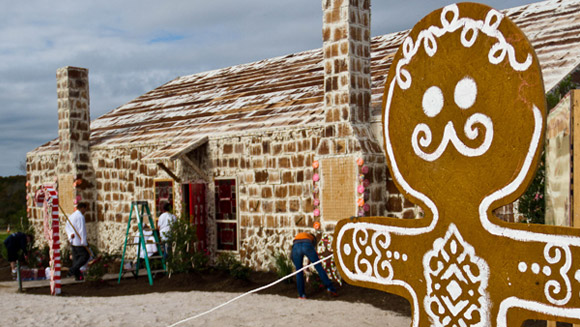 Largest gingerbread house for charity gets us in the Christmas spirit
