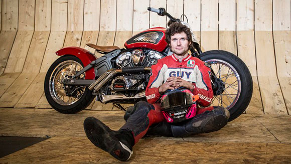 British motorcycle racer Guy Martin smashes Wall of Death world record after reaching 78 mph