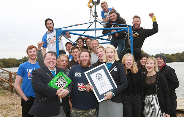 Highest bungee dunk GWR Day