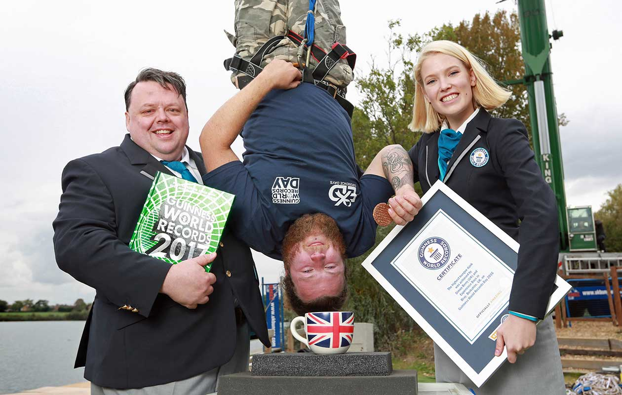 Guinness World Records Day British Thrill Seeker Dunks