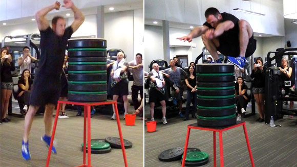 Video: Canadian personal trainer smashes highest standing jump record