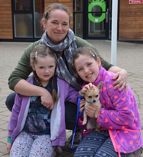 Pixie (was Honey) with her new owners