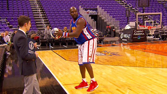 Video: Watch Harlem Globetrotters stars score two new basketball records