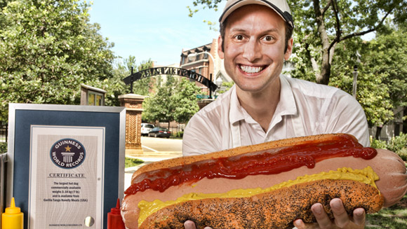 Dan Abbate - inventor of the largest hot dog commercially available - VIDEO