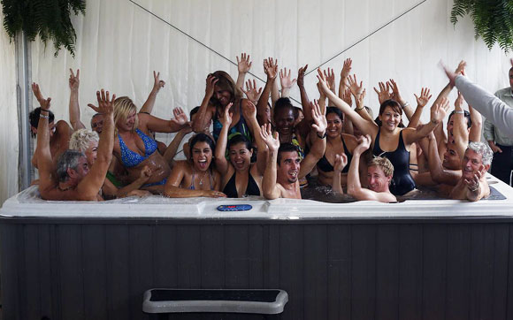 Spanish store dips into record books with hot tub title