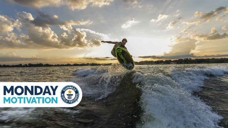 Monday Motivation: Hunter Sims, record-breaking wakesurfing for a cause