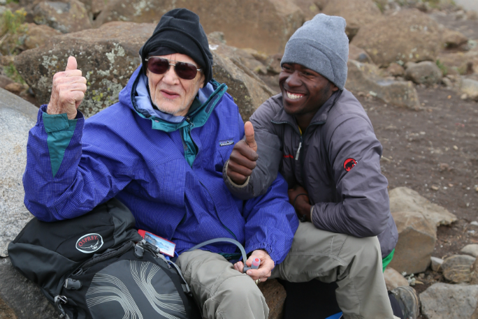 Oldest male to summit Mount Kilimanjaro 8