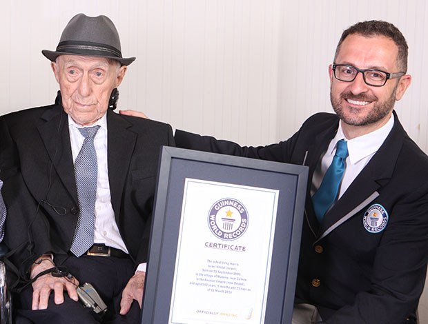 Israel Kristal oldest man full image